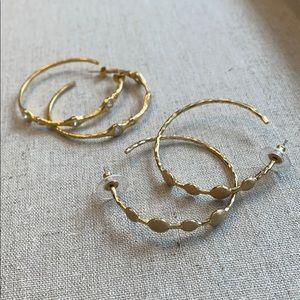 2 pair of hoops